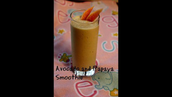 Avocado papaya smoothie (kids recipe)