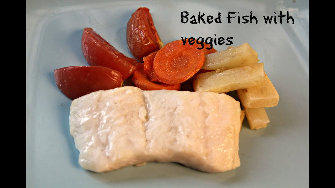 baked fish and vegetables kids recipe