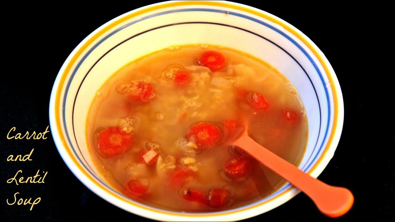 carrot lentil soup kids recipe