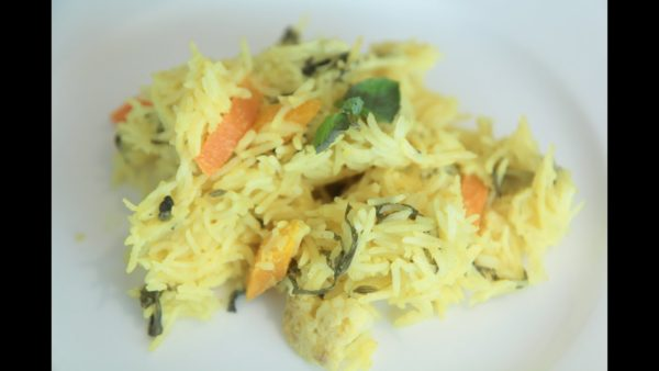 veg pulao microwave